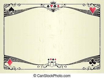 Horizontal grunge casino - A grunge horizontal background...
