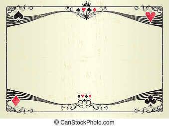 Horizontal grunge casino - A grunge horizontal background...