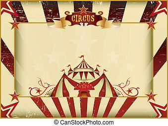 Horizontal grunge circus