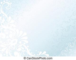 horizontal, hintergrund, satin, viktorianische , weißes