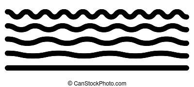 horizontal, lines., niveaux, différent, résumé, zigzag, ...