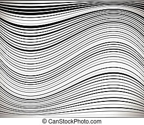 Horizontal lines / stripes pattern or background with wavy,...