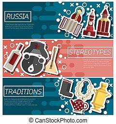 horizontal lobogó, körülbelül, állhatatos, oroszország