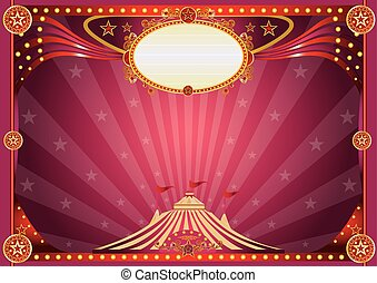 Horizontal magic circus background