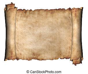 horizontal, manuskript