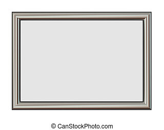 Horizontal Metal Frame Isolated on White.