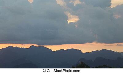 horizontal mountain sunset telephoto - horizontal mountain...