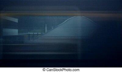 Horizontal movement from train window blurred motion...