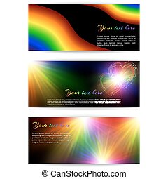 Horizontal multicolored banners - A set of horizontal...