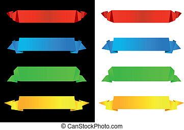 Horizontal origami banners - Horizontal banners in origami...
