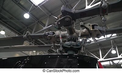 Horizontal panorama of the helicopter propeller - The camera...