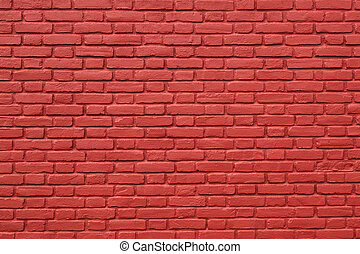 part of red painted brick wall