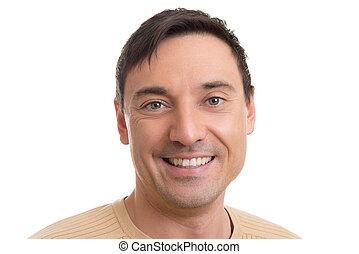 handsome caucasian man smiling
