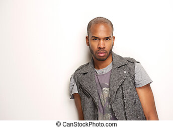 Horizontal portrait of an attractive male model