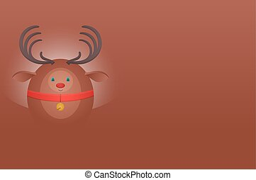 Horizontal postcard with a Christmas deer and place for text