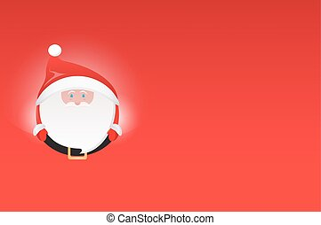 Horizontal postcard with Santa Claus and place for text.