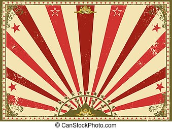 Horizontal poster sunbeams red circus - a circus vintage...