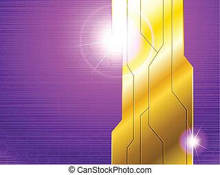 Horizontal purple banner