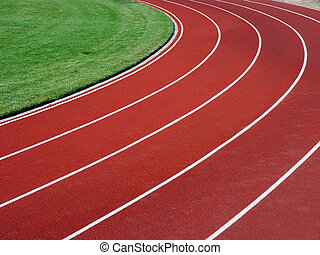 Horizontal racetrac - Horizontal picture of racetrack and...