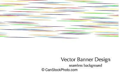 horizontal rainbow lines
