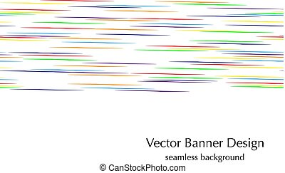 horizontal rainbow lines  seamless vector banner design