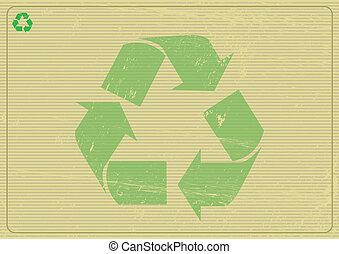 horizontal, recyclabe, hintergrund