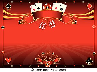 Horizontal red Casino background