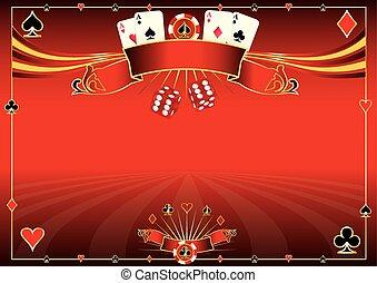 Horizontal red Casino background