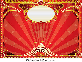 Horizontal red circus background
