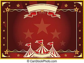 Horizontal red magic circus - Horizontal circus background...