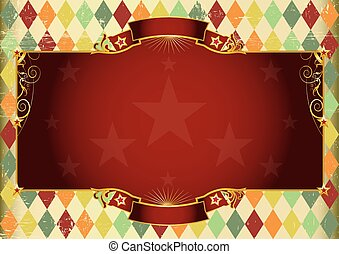 Horizontal rhombus vintage background