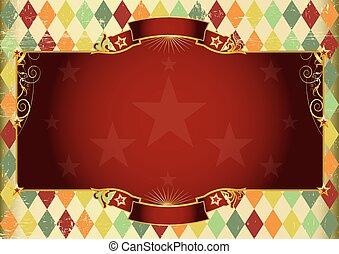 Horizontal rhombus vintage background - A Horizontal vintage...