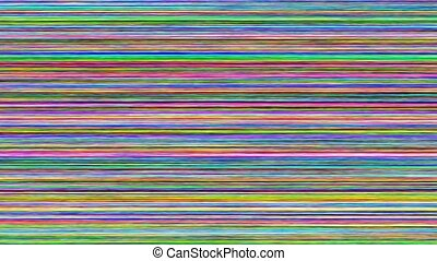 computer generated multicolored horizontal scan line