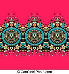 Horizontal seamless floral background