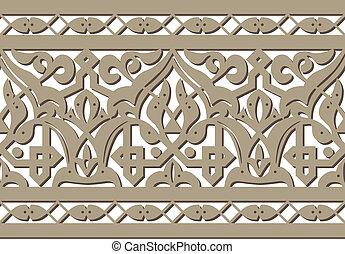 horizontal seamless pattern - Horizontal seamless Arabic...