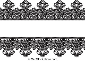vintage crocheted lace frame