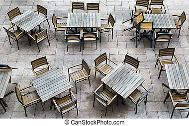outdoor restaurant - Horizontal shot of a outdoor restaurant...