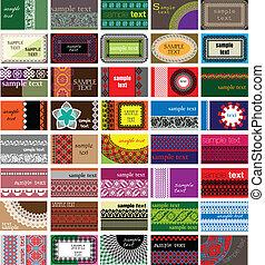 horizontal, tarjetas comerciales
