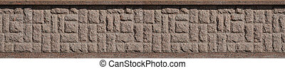 Horizontal texture of coarse and strong mosaic granite stone foundation