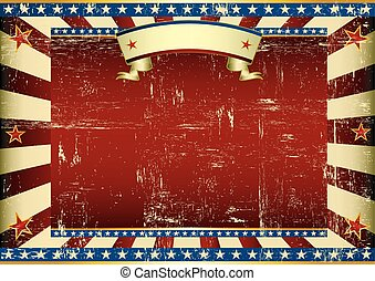 Horizontal textured american background