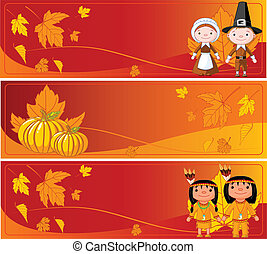Horizontal Thanksgiving Banners
