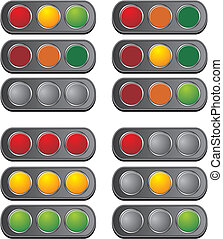 horizontal traffic light - suitable for user interface or ...