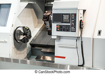 Horizontal turning lathe machine. CNC slant bed lathes