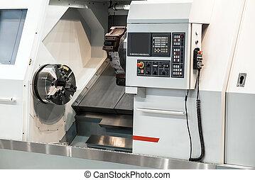 Horizontal turning lathe machine. CNC slant bed lathes