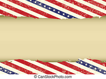 Horizontal USA dirty background