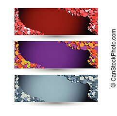 horizontal vector banner set