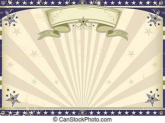 horizontal, vendimia, bandera