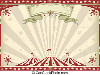 Horizontal vintage circus - a circus vintage poster for your...