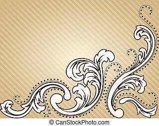 Horizontal vintage sepia background