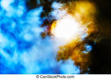 Horizontal vivid blinding burning sun light leak abstraction bac